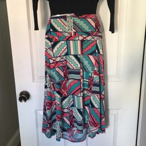 """Lularoe """"Azure"""" box patterns skirt"""